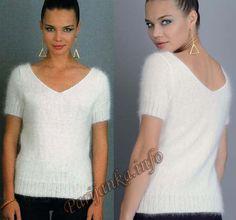 Пуловер (ж) 26*100 Phildar №3813