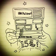 8/4 跳蚤市場好友們陪伴殺價,購入人生第一台Polaroid! @FRANCE
