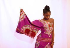Off the Shoulder Dashiki Dress by AsikereAfana on Etsy, $95.00