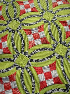 """Sew Kind Of Wonderful: """"Urban Nine Patch"""" Quilting Wrap-Up!  I love the way she quilted this.  I need to add more straight lines into my quilting!"""