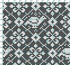 Birds and Flowers Chart Designer Knitting Patterns, Sweater Knitting Patterns, Knitting Charts, Knitting Stitches, Filet Crochet Charts, Cross Stitch Charts, Stitch Witchery, Graph Design, How To Start Knitting