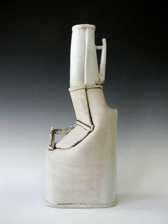Tall Hand Built Bottle by Laura B. Cooper