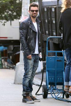 Ankel Length Sneakers with Denim+ jacket