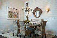 Schön 50 Einrichtungsideen Für Kleine Esszimmer   Esszimmer Esstisch Stühle  Rattan Stühle Sofa Wandspiegel