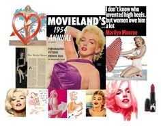 """""""Marilyn Monroe"""" by thevintagecinderella ❤ liked on Polyvore featuring beauty and Lilya"""