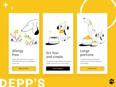 Deppa Dog Food designed by Polina Gagarina. Connect with them on Dribbble; Ui Design Mobile, Design Ios, Interface Design, Branding Design, Dog Design, Application Design, Apps, Grafik Design, Graphic Design Inspiration