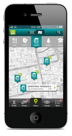 #Location app design - nice colour combination  As stated in samirs blog, do we as a group believe that there is no direct competitor to our service. What is referred to in the blog as indirect competition can be seen in the form of Location Map