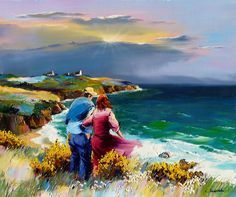 Presentation in the form of a slideshow of the work of the Marseilles painter Christian Jequel : Painter of seascape Paintings I Love, Seascape Paintings, Beautiful Paintings, Landscape Paintings, Art Des Gens, Art Plage, Afrique Art, Building Painting, Art Gallery