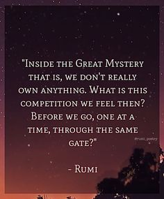 Inside the Great Mystery ✨ #rumi_poetry#rumi#quoteoftheday#rumiquotes#wordstoliveby#sufi#wordsofwisdom#meditation#spirituality#behappy#lovelife#loveyourself