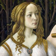 Renaissance hairstyle. Venus from the painting Venus and Mars by Botticelli