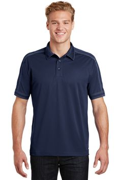 Joes USA Mens Fine Stripe Moisture Wicking Performance Polo in Adult Sizes XS-4XL