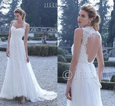 Casual Wedding Dresses 2016 Jillian Beach Wedding Dresses Sweetheart Neckline Ruched Tulle And Lace A Line Bridal Gowns With Sweep Train And Keyhole Back Hot Sale Wedding Dresses With Sleeves From Nicedressonline, $156.64| Dhgate.Com