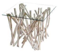 #OutdoorTable #SideTables - Sticks Side Table Glass - Segals Outdoor Furniture