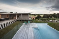 Australian studio Jam Architecture designed this contemporary vacation home located in Fingal, a rural locality of the Mornington Peninsula in Victoria, Australia.