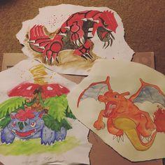 Shared by charlieshaikh #gameboy #microhobbit (o) http://ift.tt/1My6CBt Groudon and Mega Venusaur! #pokemon #pocketmonsters #redversion #ruby #grass #leafgreen  #gamefreak color #nintendo #element #anime #legend #dragon #charizard #venusaur #groudon #oras #paint #watercolor #art #mega