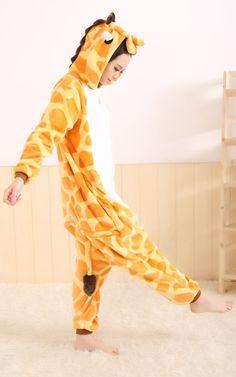 LIHAO Giraffe Onesie Pyjamas Schlafanzug unisex Erwachsene Nachtwäsche Anime Cosplay Halloween Kostüm Kleidung Tier  - http://www.amazon.de/dp/B00UFCJDAQ