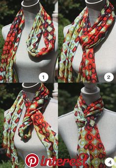 Spartina 449 Modern Lux Squared scarf tied into a Queen's Drape - Spartina available at Walker Boutique!clever scarf tying ideas by serena{Fashion Stylist} 3 Clever Ideas for Scarf Ty ingAdorable and clever way to tie a scarf! I love the detail and t Ways To Wear A Scarf, How To Wear Scarves, Tie Scarves, Look Fashion, Autumn Fashion, Fashion Tips, Trendy Fashion, Fashion Ideas, Square Scarf Tying