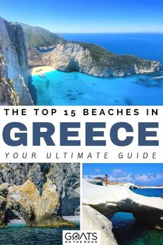 Crete, corfu, Zkynthos, there are so many beautiful places in Greece that have amazing beaches. We've got the list of the best 15 beaches in greece to add to your Europe bucket lists! Whether you want a rocky beach, a white sandy beach, wave sculpted rock beach, we've listed the best destinations for your itinerary! | #europetravel #greekislands #traveltips