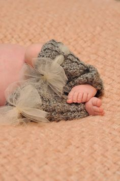 Knit leg warmers and tulle.