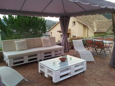 Muebles de jardín con pallets