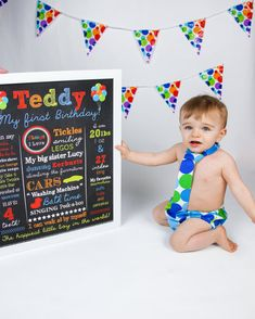 Hey, I found this really awesome Etsy listing at https://www.etsy.com/listing/207438919/balloon-boy-first-birthday-chalkboard