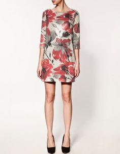 £49.99 Printed Sequinned dress, Zara