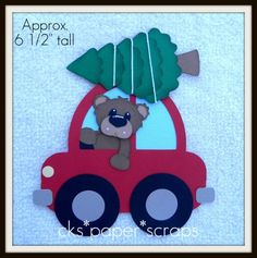 Christmas Tree Farm/Lot Car Cardstock Bear Paper Piecing