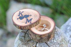 Custom Ring Box Proposal ring box by MaineBirchWorks on Etsy