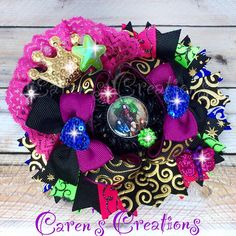 Disney Descendants stacked boutique bow, hair bow, Disney inspired, hair accessory, for little girls, girly things