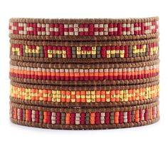 Chan Luu - Orange Beaded Wrap Bracelet on Natural Brown Leather, $195.00 (http://www.chanluu.com/wrap-bracelets/orange-beaded-wrap-bracelet-on-natural-brown-leather/)