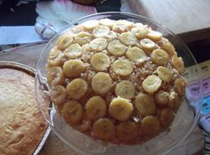 Banana Coconut Upside-down Cake