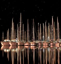 yachts and stars, my inner pirate is coming out looking at this picture...