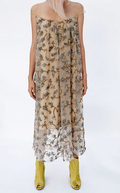 Embroidered Sequin Cap Sleeve Midi Dress by ALENA AKHMADULLINA for Preorder on…