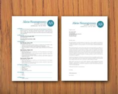 Modern Microsoft Word Resume 1 and 2 pages and by INKPOWER on Etsy, $15.00