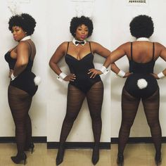 15 Plus Size Halloween Costumes that WOWED Us-  Liris C as Playboy Bunny