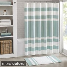 Madison Park Chester Pieced Faux Silk Shower Curtain | Overstock.com Shopping - The Best Deals on Shower Curtains