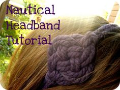 You Seriously Made That!?: Nautical Headband Tutorial