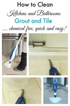 This is the BEST WAY TO CLEAN kitchen and bathroom tile and grout! Non toxic, chemical free quick and easy! Makes cleaning a breeze. www.settingforfour.com