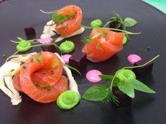 Beautiful salmon dish