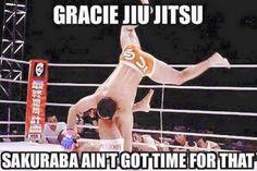 Gracie jiu jitsu Sakuraba ain't got time for that BJJ | catch wrestling | pride FC | UFC