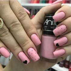 Fails design valentines coffin 60 Ideas for 2019 Aycrlic Nails, Swag Nails, Pink Nails, Hair And Nails, Pretty Nail Art, Cute Nail Art, Cute Nails, Stylish Nails, Trendy Nails