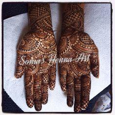 By Sonia's Henna Art  Bridal henna  Mehndi design