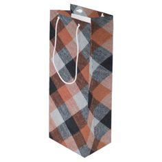 Retro pattern wine gift bag - pattern sample design template diy cyo customize