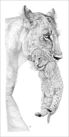 lioness cub tattoo - Google Search