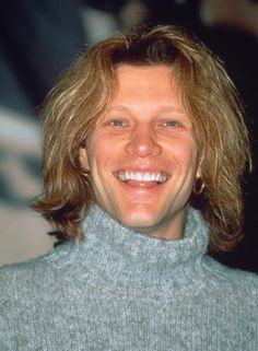 Jon Bon Jovi circa 1995 - I think I watched him sing Saturday Night in that jumper :( so long ago.