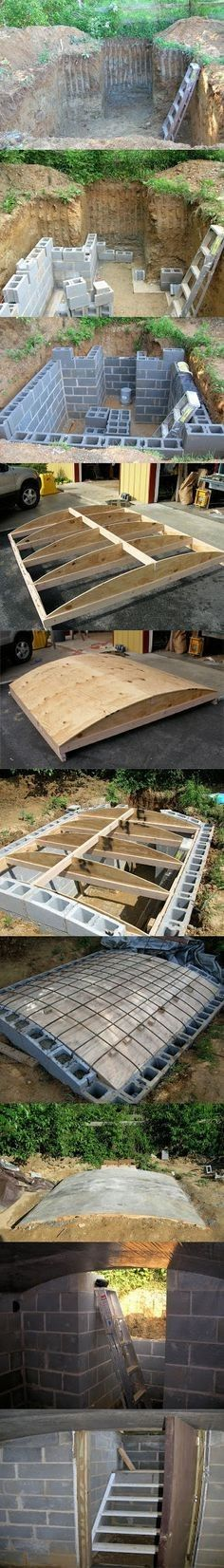 How to build a cellar with your own hands- Как построить погреб своими руками How to build a cellar with your own hands - Outdoor Projects, Home Projects, Casa Bunker, Future House, My House, Underground Shelter, Garden Design, House Design, Root Cellar