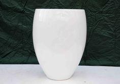 Brand new white fibreglass tulip planter