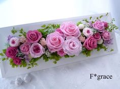 Flower Box Gift, Flower Boxes, Flower Frame, Flower Art, Deco Floral, Arte Floral, Floral Design, Flower Crafts, Diy Flowers