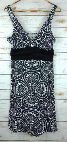 c6f8989619d Patagonia Athletic Dress Sz M Sleeveless Stretch Geometric Print V Neck  Cotton  Patagonia  ShirtDressStretchBodycon