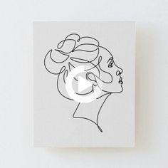 Woman face one line art Line drawing Line girl One line face Fashion print Salon beauty print Beautiful girl Minimalist art Line art Hairstyle Minimalist... #drawing #drawingideas Doodle Art Drawing, Line Drawing, Drawing People Faces, Cactus Drawing, Abstract Line Art, Face Fashion, Art Drawings Sketches Simple, Minimalist Art, Minimalist Drawing